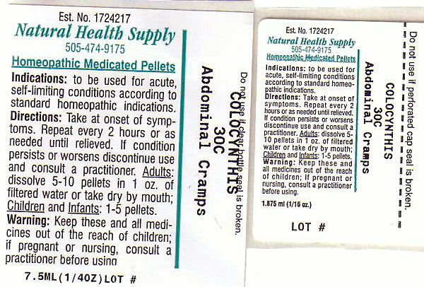 Abdominal Cramps (Citrullus Colocynthis Fruit Pulp) Pellet [Natural Health Supply]