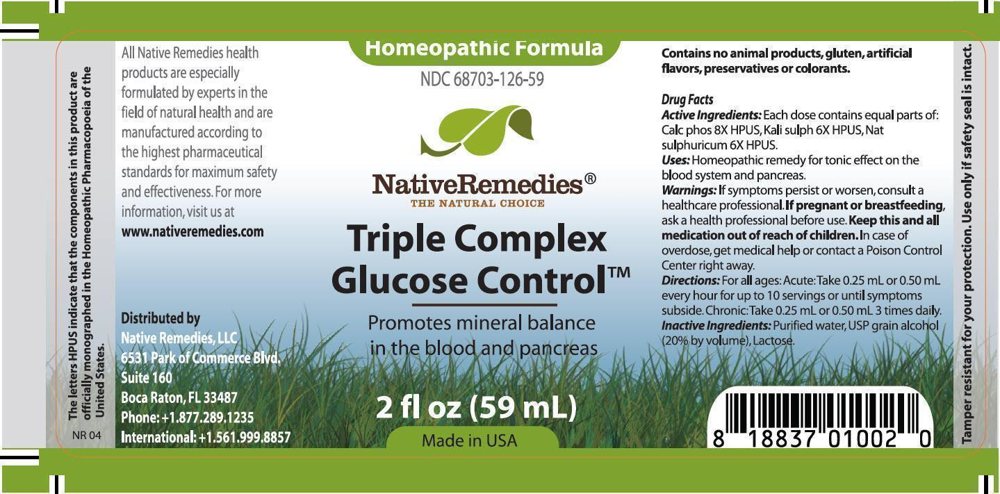 Triple Complex Glucose Control (Calc Phos, Kali Sulph, Nat Sulphuricum) Tincture [Native Remedies, Llc]