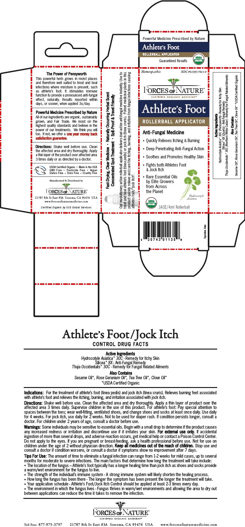 Athletes Foot/jock Itch Control (Centella Asiatica, Silicon Dioxide, And Thuja Occidentalis Root) Solution/ Drops [Forces Of Nature]