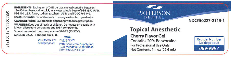 Topical Anesthetic Cherry (Benzocaine) Gel [Patterson Dental Supply Inc]