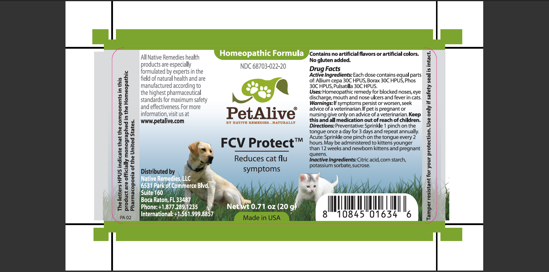 Fcv Protect (Allium Cepa, Borax, Phos, Pulsatilla, Citric Acid, Corn Starch, Potassium Sorbate, Sucrose) Granule [Native Remedies, Llc]