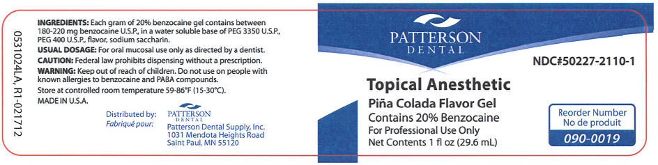 Topical Anesthetic Pina Colada (Benzocaine) Gel [Patterson Dental Supply Inc]