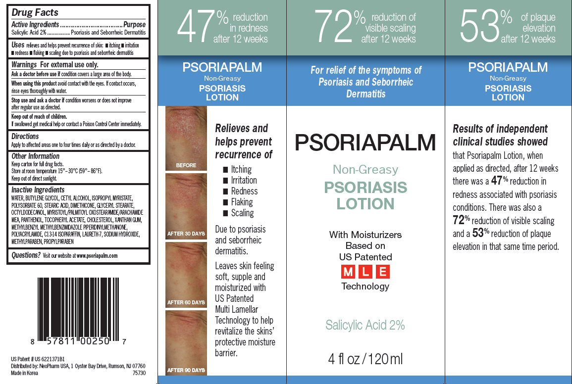 Psoriapalm Non-greasy Psoriasis (Salicylic Acid) Lotion [Neopharm Co., Ltd]