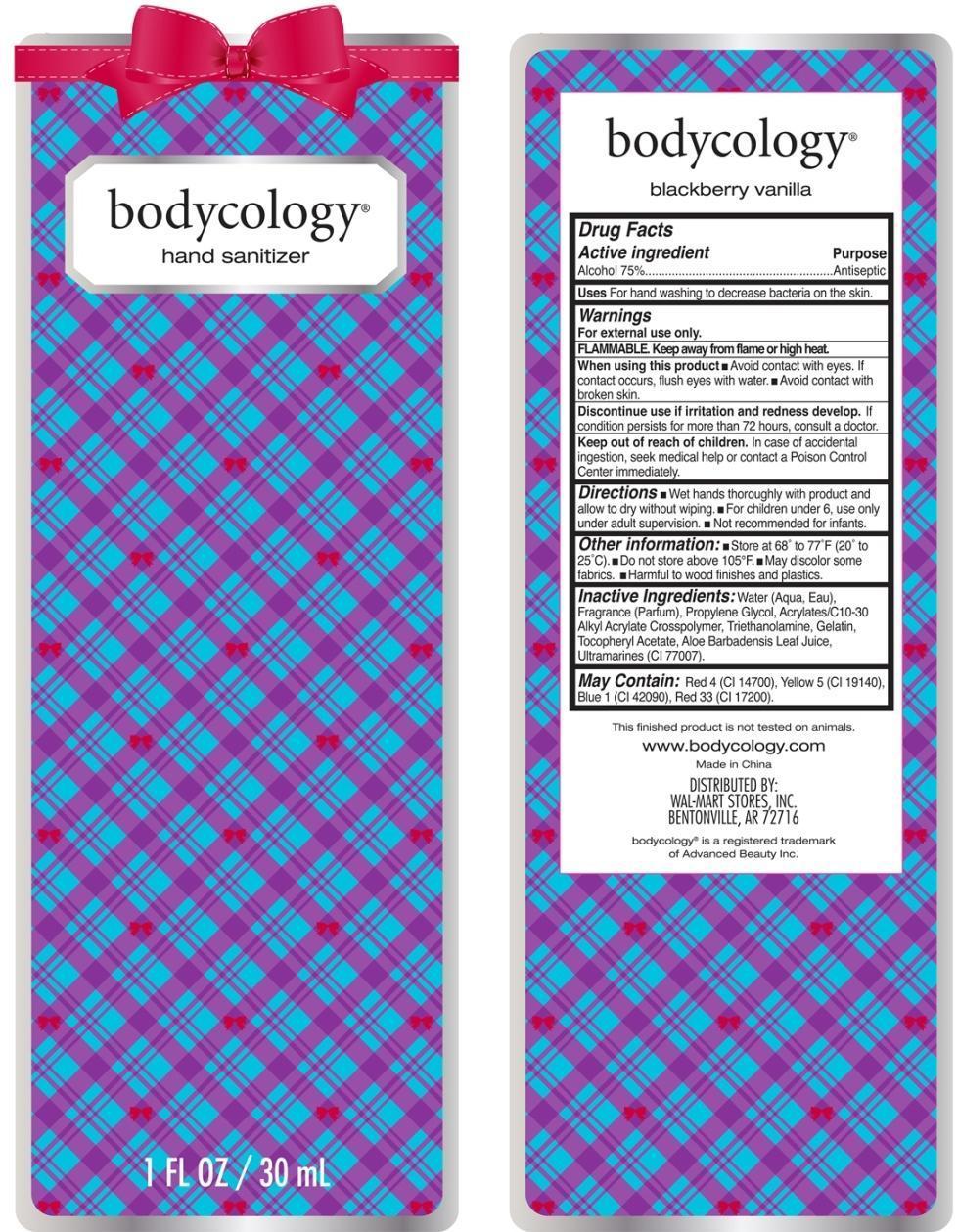 Blackberry Vanilla Hand Sanitizer Bodycology (Alcohol) Liquid [Wal-mart Stores Inc]