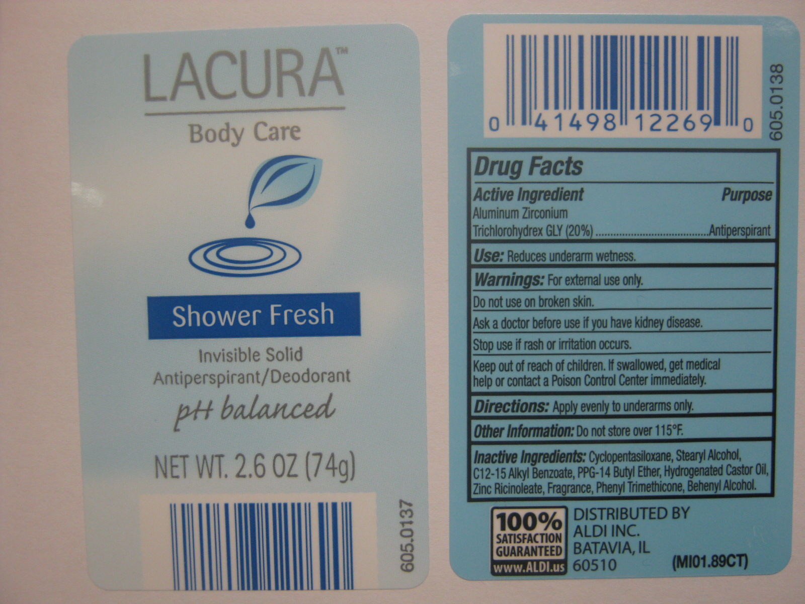 LacuraInvisibleSolidShowerFresh Label