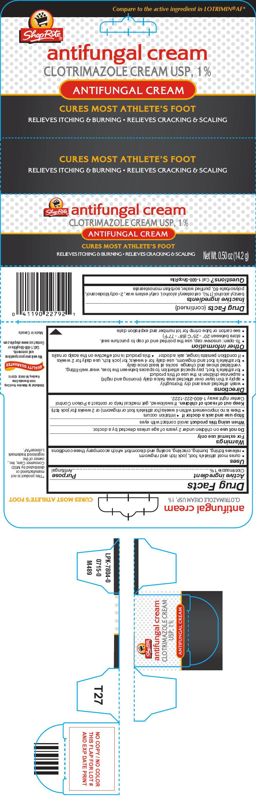 Shoprite Antifungal (Clotrimazole) Cream [Wakefern Food Corporation]