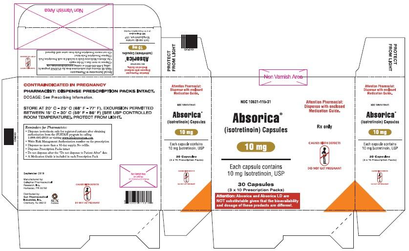 Absorica 10 mg Carton