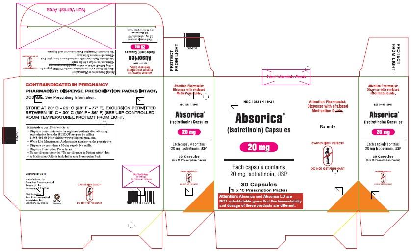 Absorica 20mg Carton