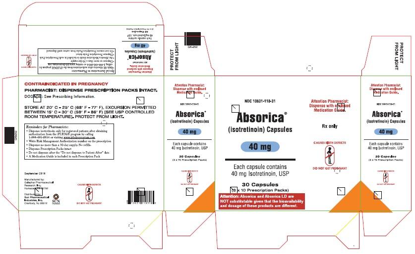 Absorica 40 mg Carton