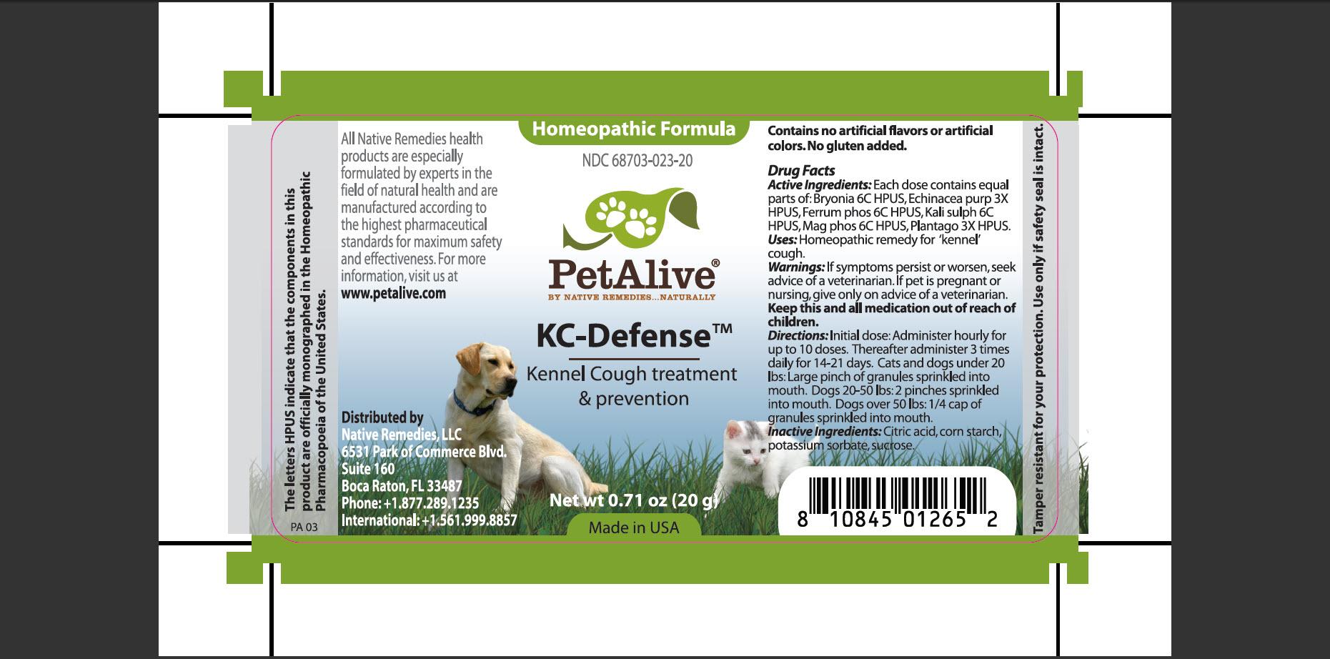 Petalive Kc-defense (Bryonia, Echinacea Purp, Ferrum Phos, Kali Sulph, Mag Phos, Plantago) Granule [Native Remedies, Llc]