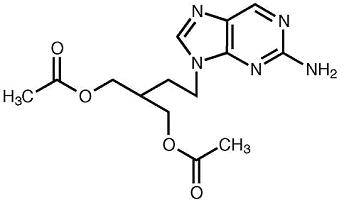 Chemical Structure for Famciclovir