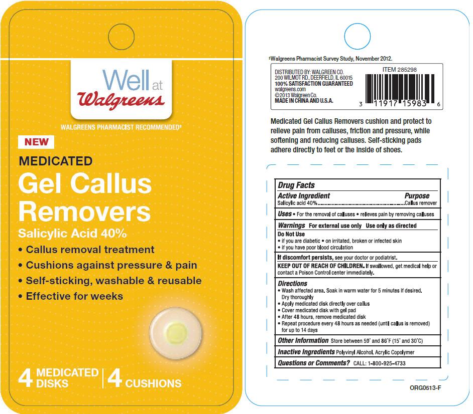 Walgreens Medicated Callus Removers (Salicylic Acid) Disc [Walgreens Co.]