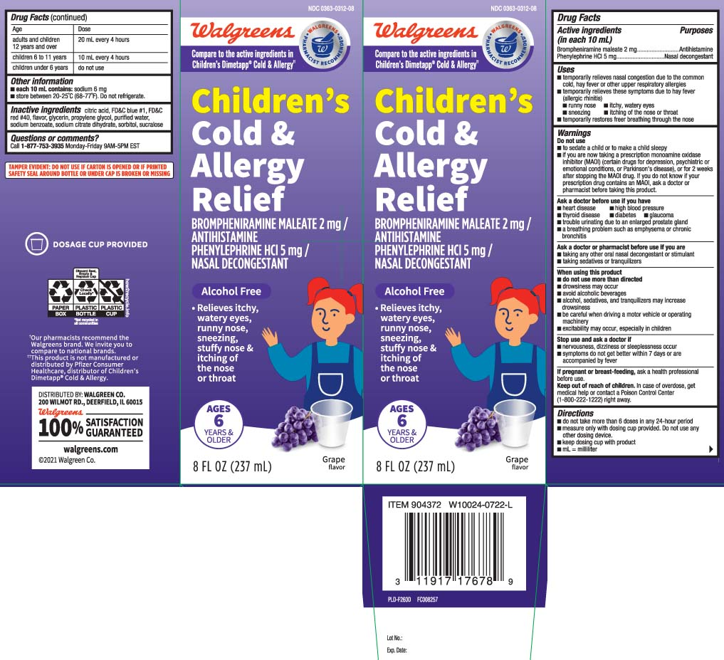 Childrens Wal Tap Elixer Cold And Allergy (Brompheniramine Maleate, Phenylephrine Hcl) Liquid [Walgreens]