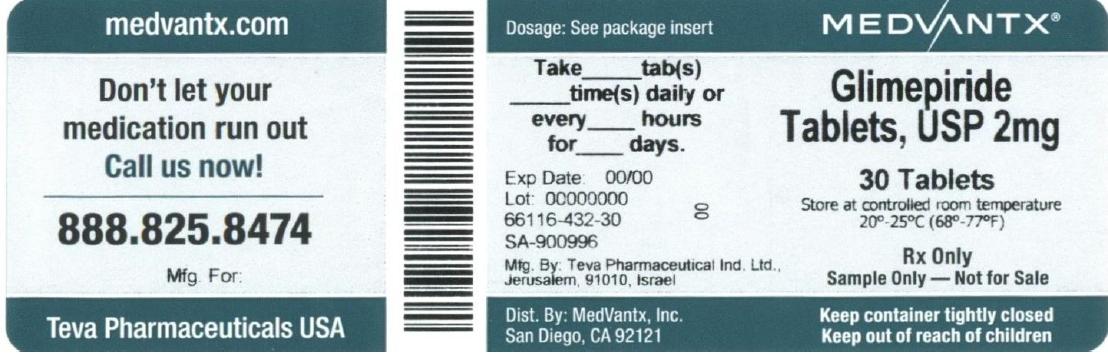 Glimepiride Tablet [Medvantx, Inc.]