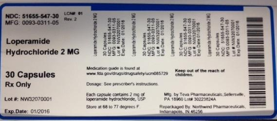 Loperamide Hydrochloride Capsule [Northwind Pharmaceuticals, Llc]