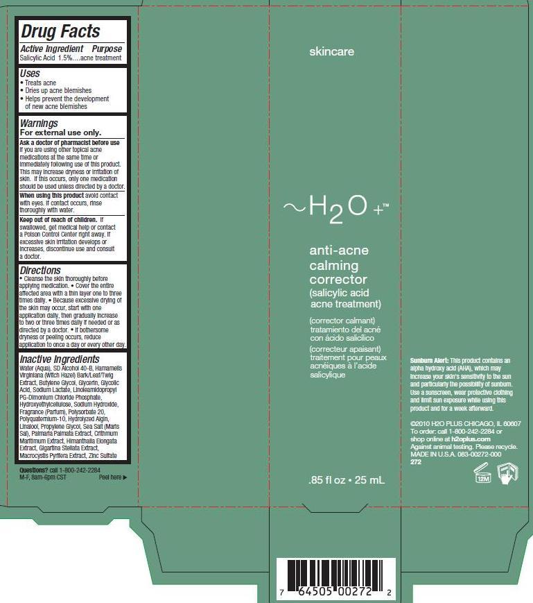 Anti Acne Calming Corrector (Salicylic Acid) Gel [H2o Plus]