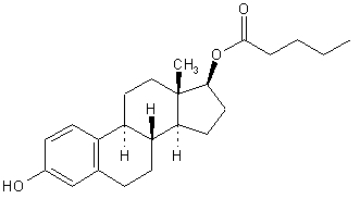 image of estradiol valerate chemical structure