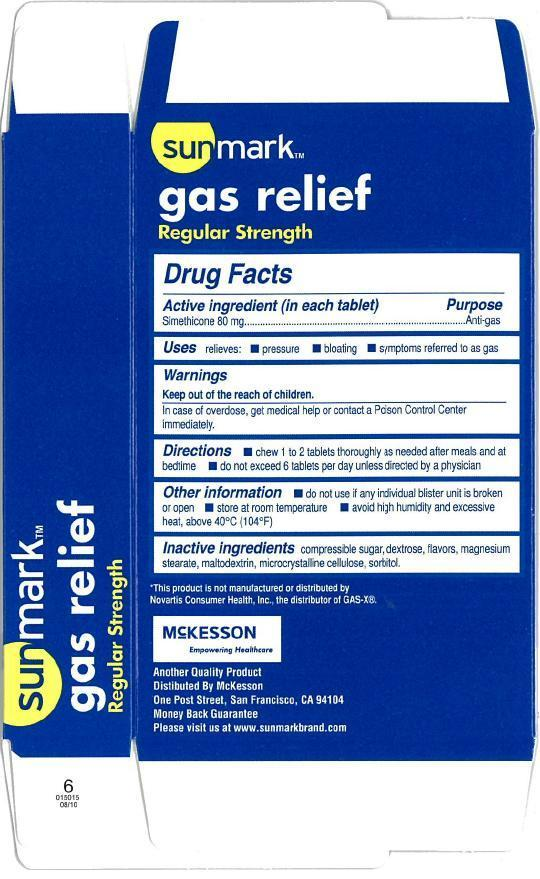 Sunmark Gas Relief (Dimethicone) Tablet, Chewable [Mckesson]