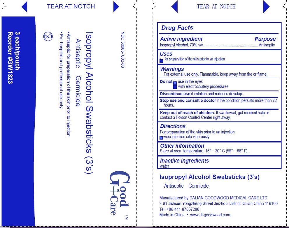 Good Care Isopropyl Alcohol (Isopropyl Alcohol) Swab [Dalian Goodwood Medical Care Ltd. ]