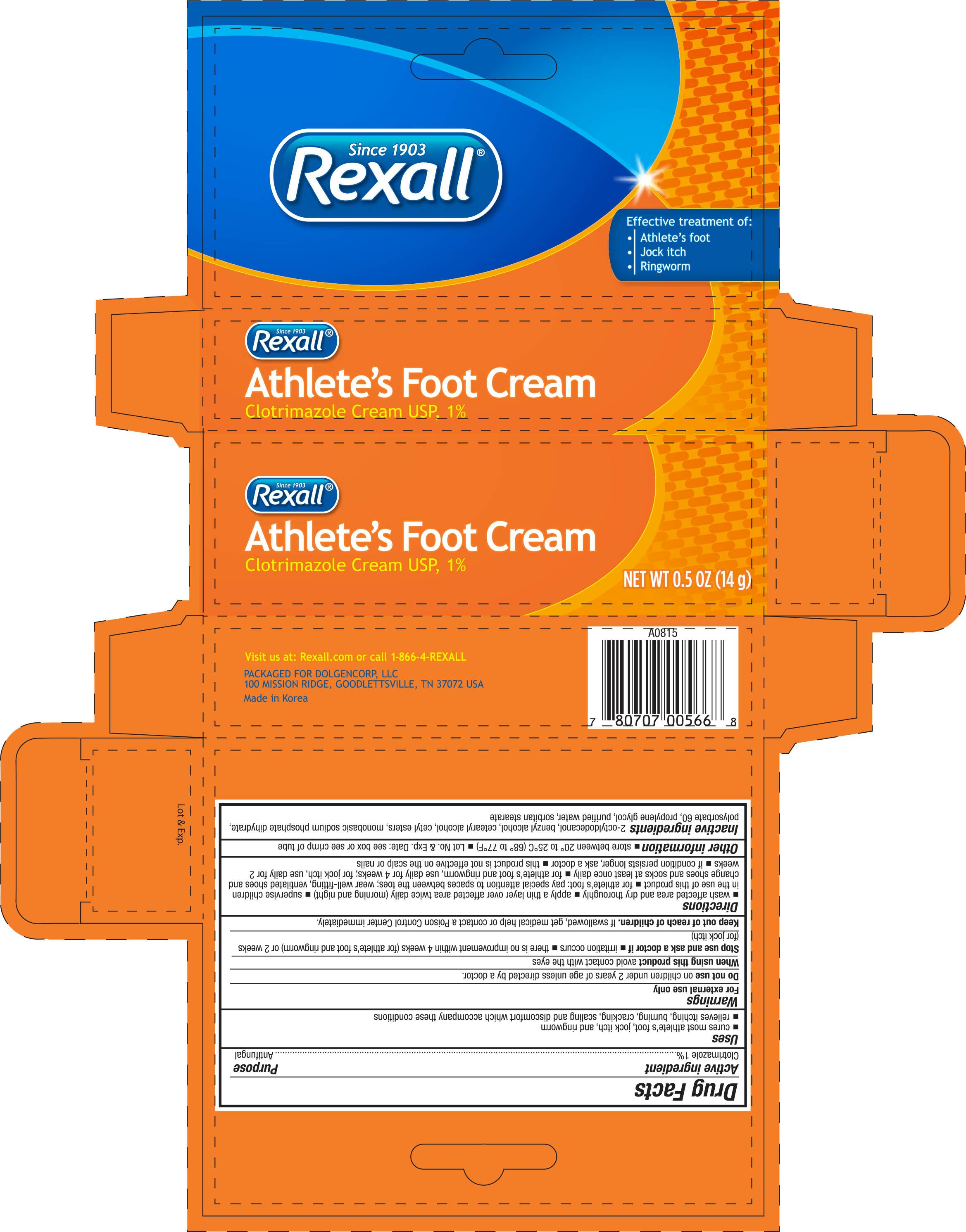 Rexall Athletes Foot (Clotrimazole) Cream [Dolgencorp Llc]