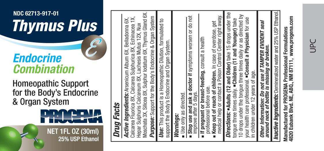 Progena Thymus Plus (Arsenicum Album, Belladonna, Calcarea Fluorica, Calcarea Sulphurica, Echinacea, Hepar Sulphuris Calcareum, Lachesis Mutus, Nux Moschata, Silicea, Sulphur Iodatum, Thymus Gland) Liquid [Meditrend, Inc. Dba Progena Professional Formulations]