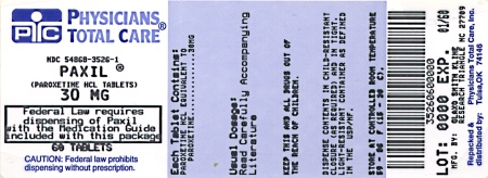 image of 30 mg package label