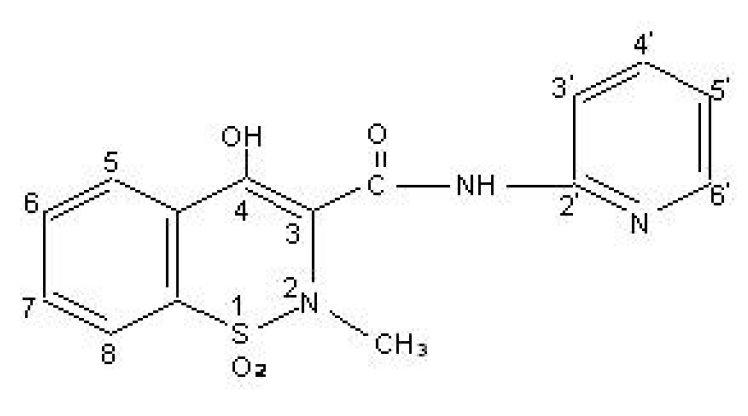 Piroxicam Structural Formula