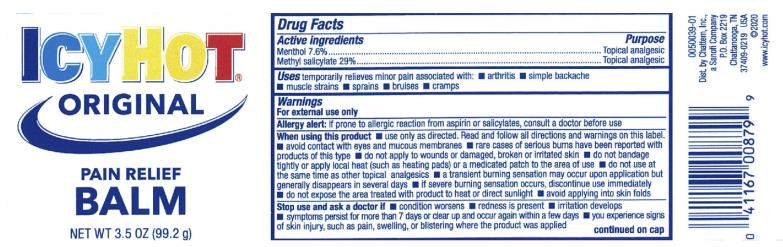 PRINCIPAL DISPLAY PANEL ICYHOT® PAIN RELIEVING BALM EXTRA STRENGTH Net wt 3.5 oz (99.2 g)