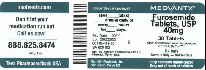 Furosemide Tablet [Medvantx, Inc.]