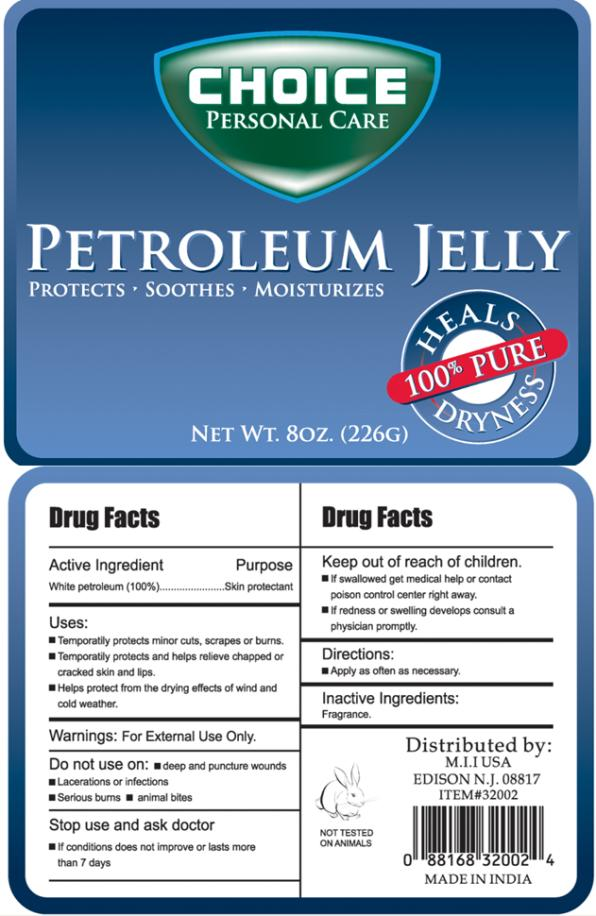 Choice Personal Care Petroleum (White Petroleum) Jelly Choice Personal Care Baby Fresh Scented Petroleum (White Petroleum) Jelly Choice Personal Care Cocoa Butter Scented Petroleum (White Petroleum) Jelly [My Import Inc]