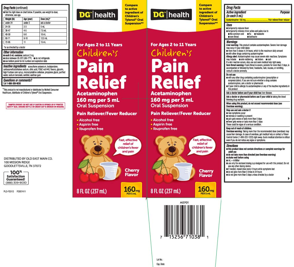 Pain Relief Childrens (Acetaminophen) Suspension [Dolgencorp, Inc. (Dollar General & Rexall)]