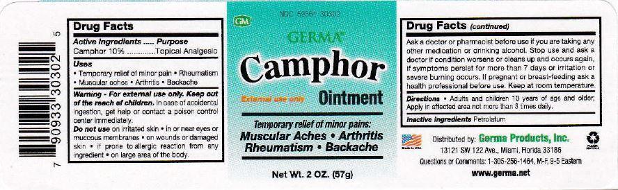 Camphor Ointment [World Perfumes, Inc]