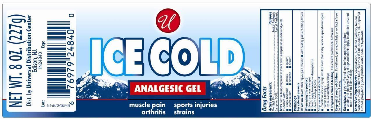 Ice Cold Analgesic Gel (Menthol And Camphor) Gel [Universal Distribution Center Llc]