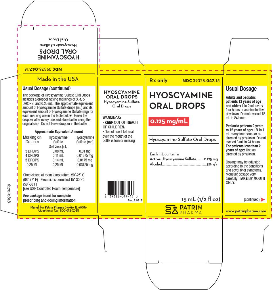 Hyoscyamine (Hyoscyamine Sulfate) Liquid [Patrin Pharma]