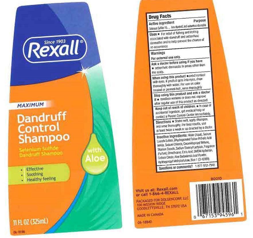 Rexall Aloe (Selenium Sulfide) Liquid [Dolgencorp Inc.]