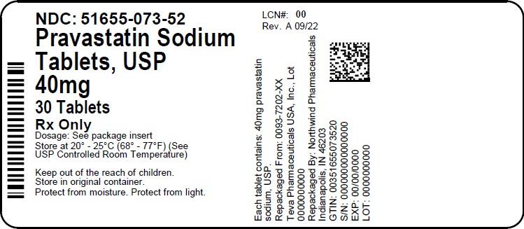 Pravastatin Sodium Tablet [Northwind Pharmaceuticals, Llc]
