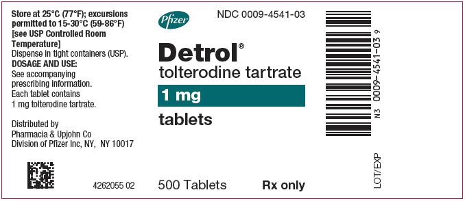Detrol (Tolterodine Tartrate) Tablet, Film Coated [Pharmacia And Upjohn Company]