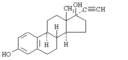 Structural Formula of Ethinyl Estradiol