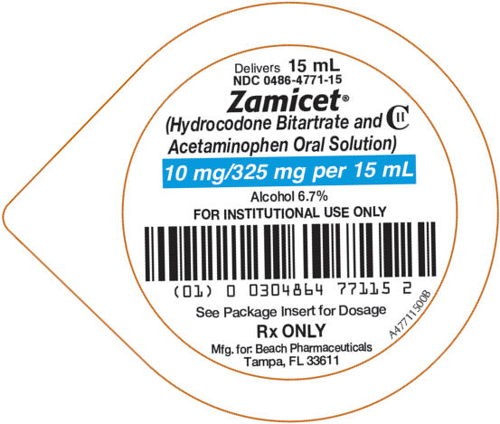 Zamicet (Hydrocodone Bitartrate And Acetaminophen) Solution [Pharmaceutical Associates, Inc.]