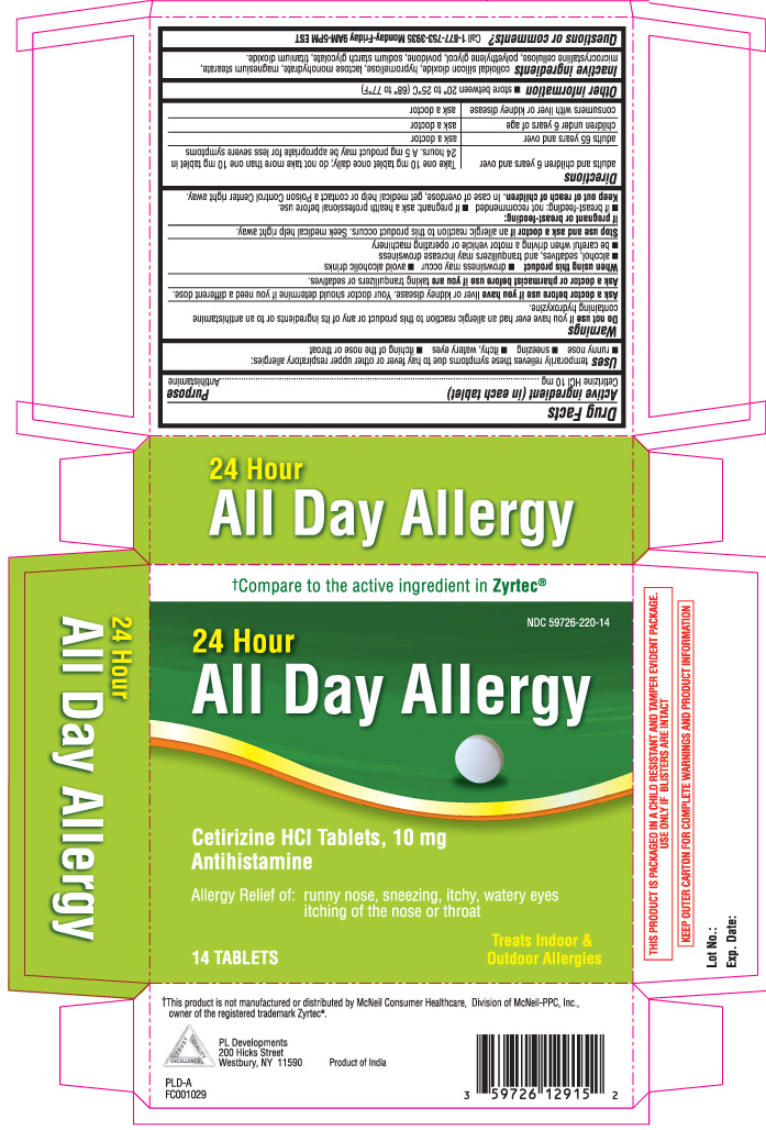 All Day Allergy Antihistamine (Cetirizine Hcl) Tablet [P And L Development Of New York Corporation]