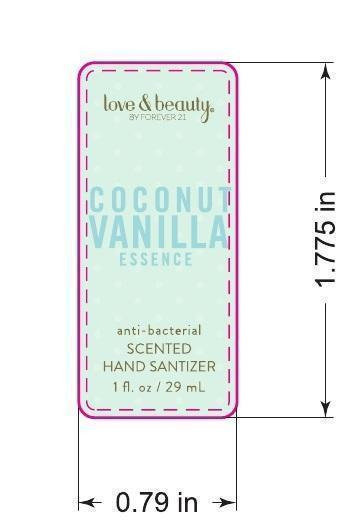 Love And Beauty Coconut Vanilla Essence Antibacterial Scented Hand Sanitizer (Ethyl Alcohol) Gel [Forever 21]