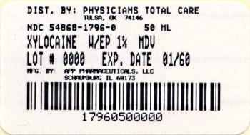 image of 1% 50 mL MDV with Epinephrine Dilution package label