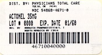 PRINCIPAL DISPLAY PANEL - 35 mg