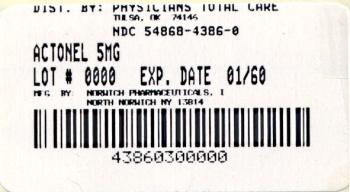 PRINCIPAL DISPLAY PANEL - 5 mg Label