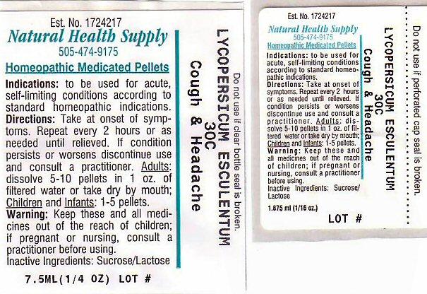 Cough Headache (Tomato) Pellet [Natural Health Supply]
