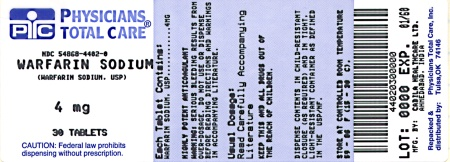 warfarin sodium 4 mg tablets