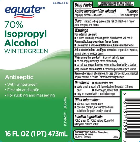 Isopropyl Alcohol 70 Percent Wintergreen (Isopropyl Alcohol) Liquid [Equate (Walmart Stores, Inc.)]