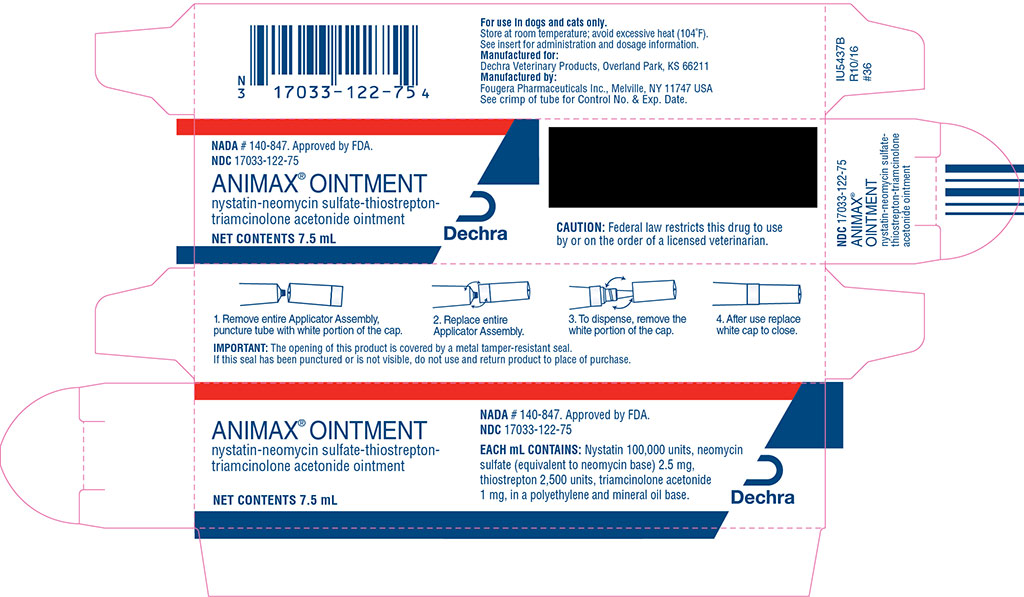 Animax (Nystatin-neomycin Sulfate-thiostrepton-triamcinolone Acetonide) Ointment [Dechra Veterinary Products]