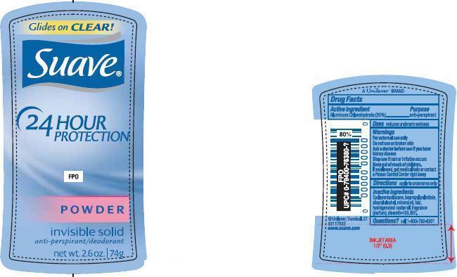Suave Powder Antiperspirant And Deodorant (Aluminum Chlorohydrate) Stick [Conopco Inc. D/b/a Unilever]