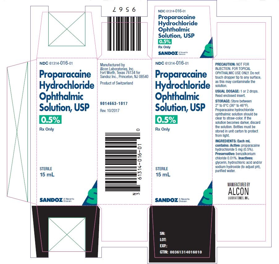 Proparacaine Hydrochloride Solution [Falcon Pharmaceuticals, Ltd.]